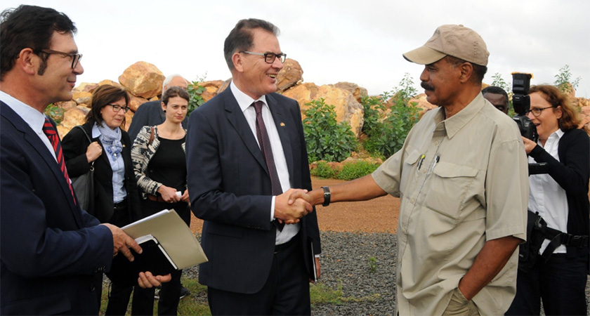 German Minister of Economic Cooperation and Development Mr. Gerd Muller met President Isaias
