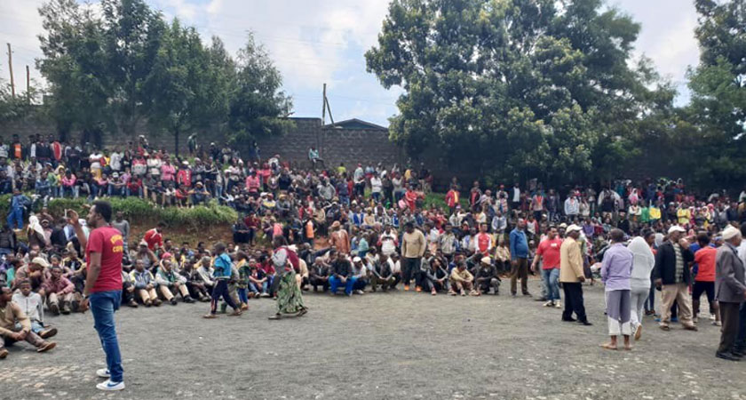 ethnic based attack in the outsides of Addis Ababa