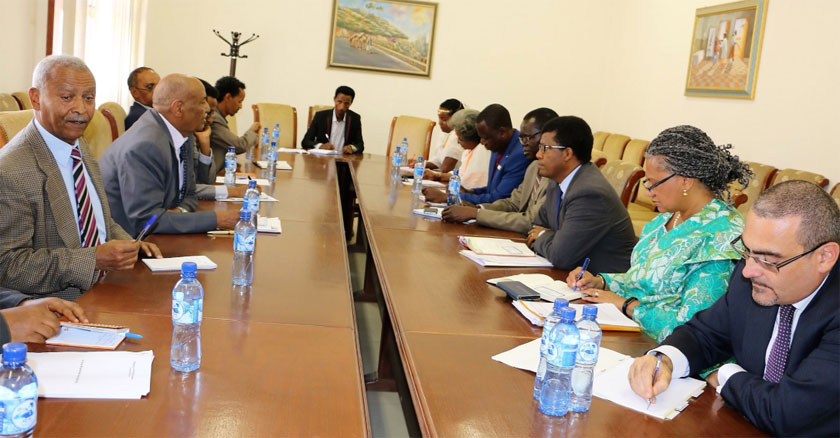 UNFPA held discussions with Ministers of Health and National Deveopment