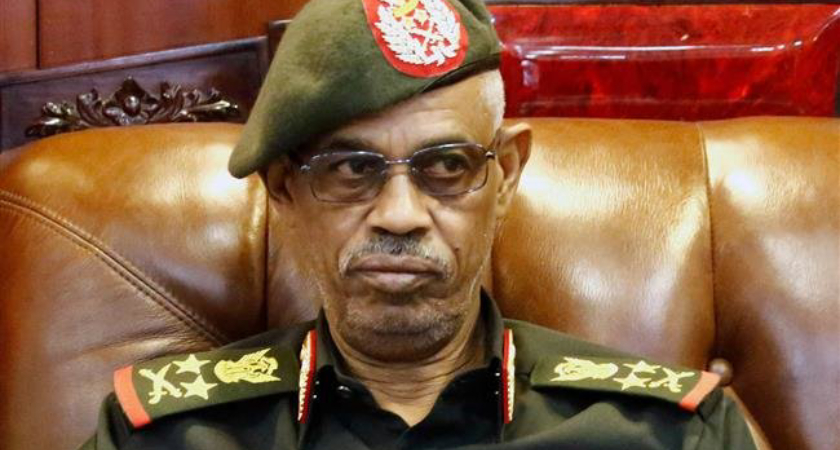 Sudan's Defence Minister and coup leader Awad Ibn Auf announced his decision to step down