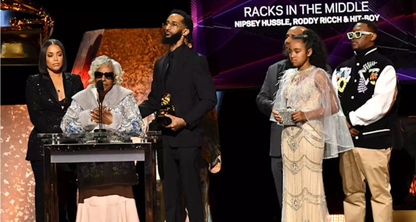 Nispey Hussle won a posthumous award at the 62nd annual Grammy Awards.