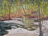 Secret Creek. Plein Air Oil painting on panel.