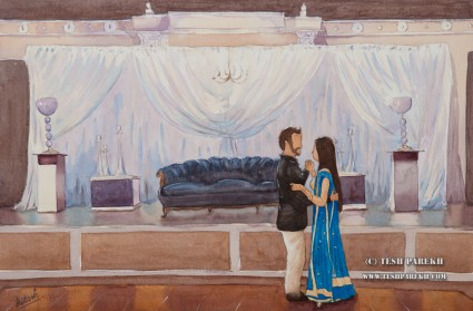 Wedding Painting at the Cypress Manor