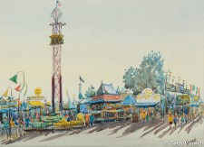 State Fair #3. Watercolor painting on paper.