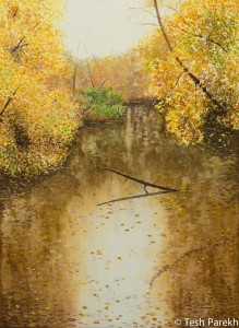 Autumn Gold. Watercolor painting on Paper. 21x28