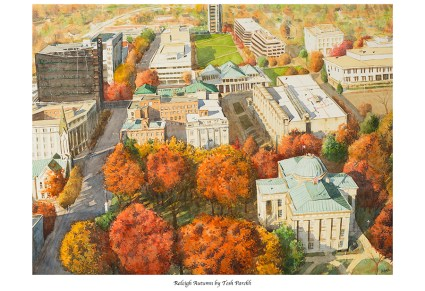 """""""Raleigh Autumn"""". 12x16 signed print on 13x19 watercolor paper."""