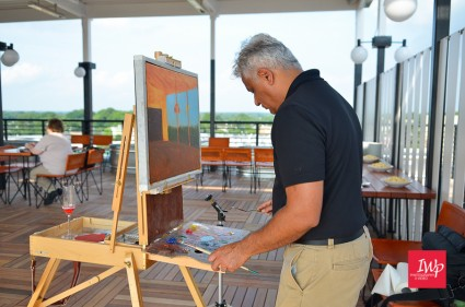 Painting LIVE at The Durham Hotel for the Durham CVB