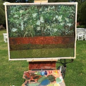 Southern Pines, NC LIVE Wedding Painting, Carol & Bruce