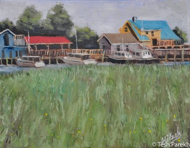 """Southport Marsh"". Southport NC paintings. Oil painting on linen. Original sold- prints available."