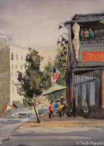 "Raleigh Art - ""Hibernian Pub"". Watercolor on paper. Original sold- prints available"