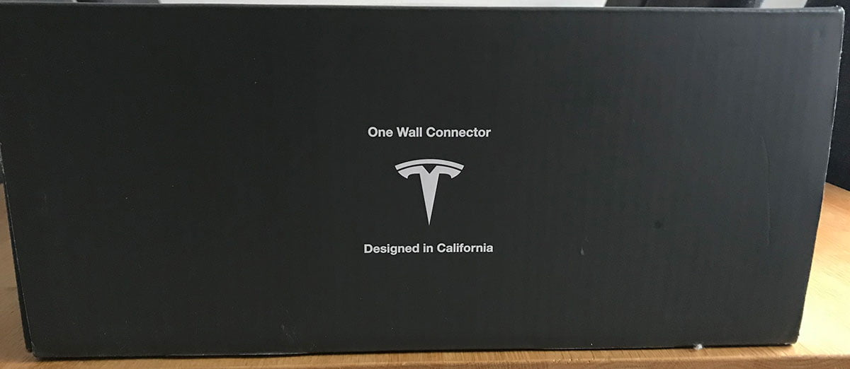 Tesla Wall connector box side