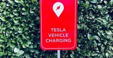 Tesla Vehicle Charging spot mark