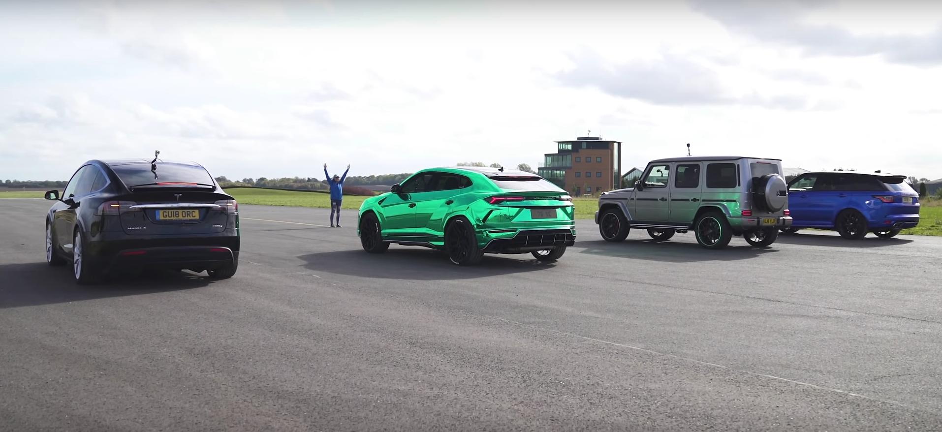 Tesla Model X Humbles Lamborghini Urus And Mercedes Amg G63