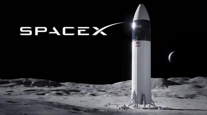 spacex receives first major starship moon lander funding from nasa