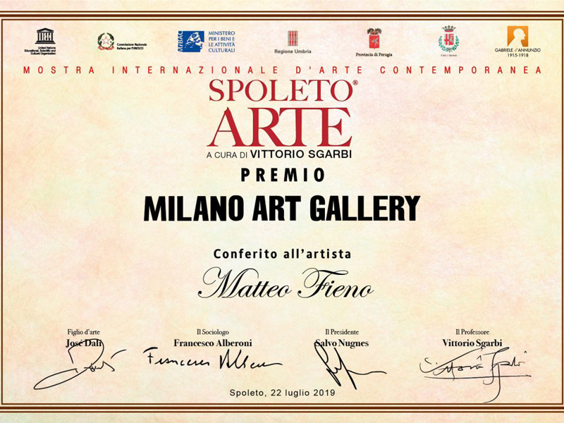 Spoleto Arte: il premio firmato Sgarbi va all'artista piemontese Matteo Fieno