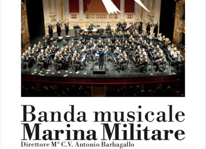 La banda musicale della Marina Militare a Gubbio per evento benefico-locandina-copertina