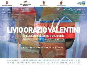 mostra di Livio Orazio Valentini-locandina