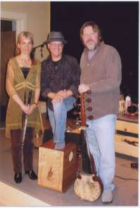 (L-R) Tessa Brinckman, Terry Longshore, Ed Dunsavage at Oregon Shakespeare Festival Green Show 2008