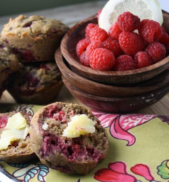 Lemon Raspberry Muffins - GF Vegan & Sugar Free