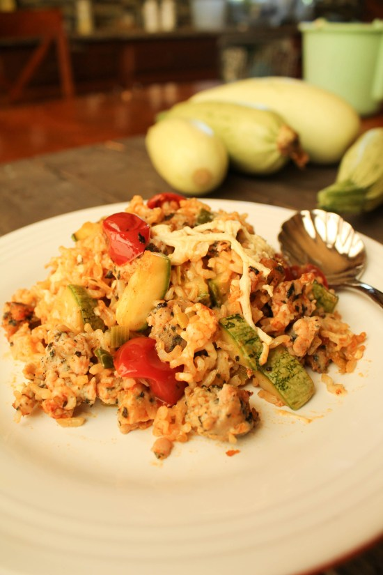 Zucchini Rice Casserole - Gluten & Dairy Free