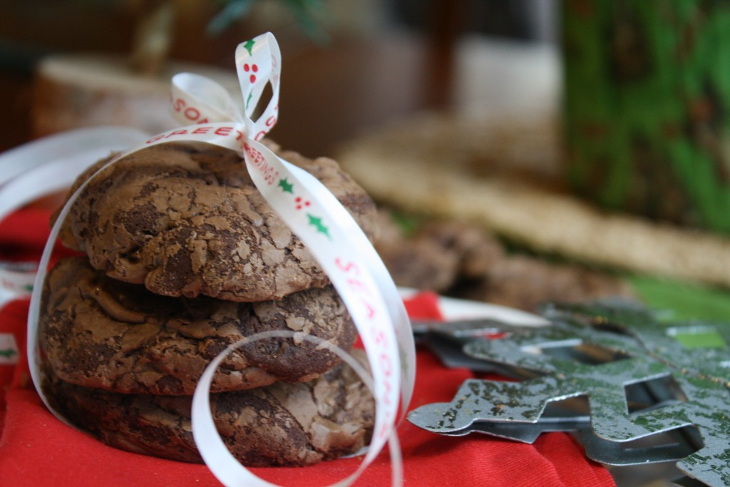 Dark Chocolate Truffle Cookies - Gluten & Dairy Free #glutenfree #dairyfree #cookies #Christmas #chocolate