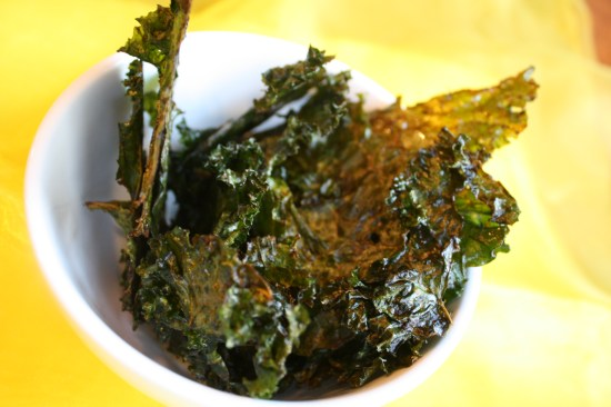 Kale Chips, Oven Method