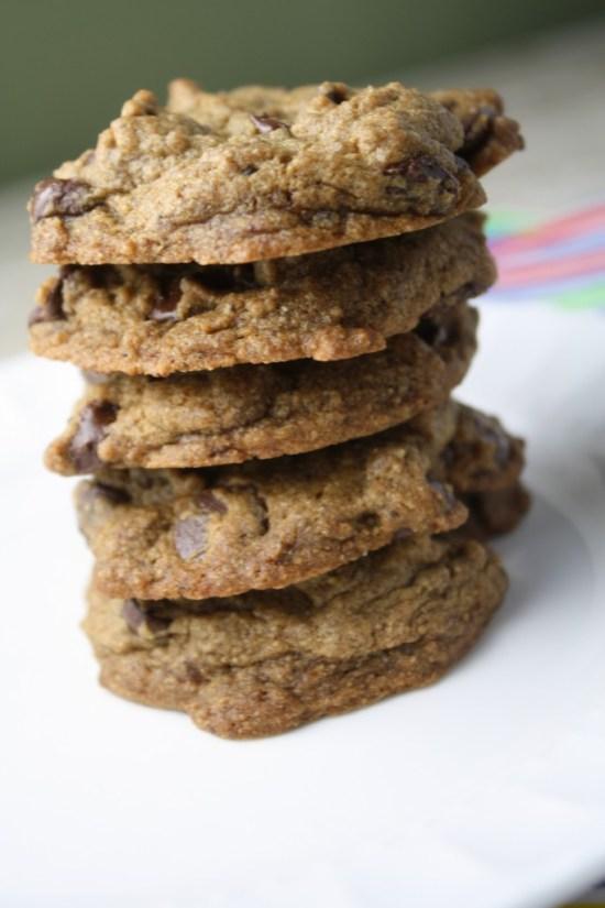 Wholegrain Tollhouse Chcoclate Chip Cookies - Gluten Free & Vegan