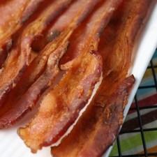 Mess Free Crispy Bacon