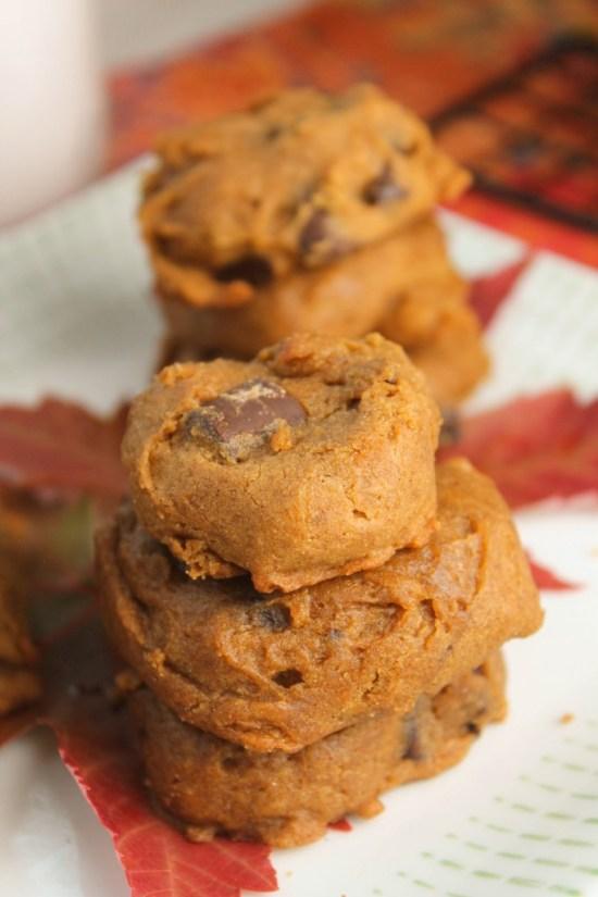 Soft Pumpkin Cookies - Gluten Free & Vegan-4239