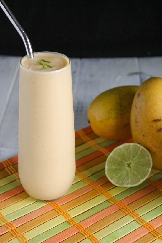 Mango, Lime & Kombucha Smoothie - Paleo, Nut Free, Whole 30-5266