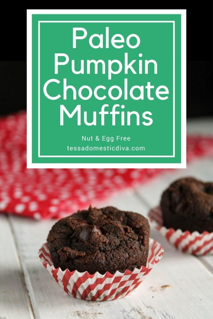 Paleo Pumpkin Chocolate Muffins - Nut & Egg Free