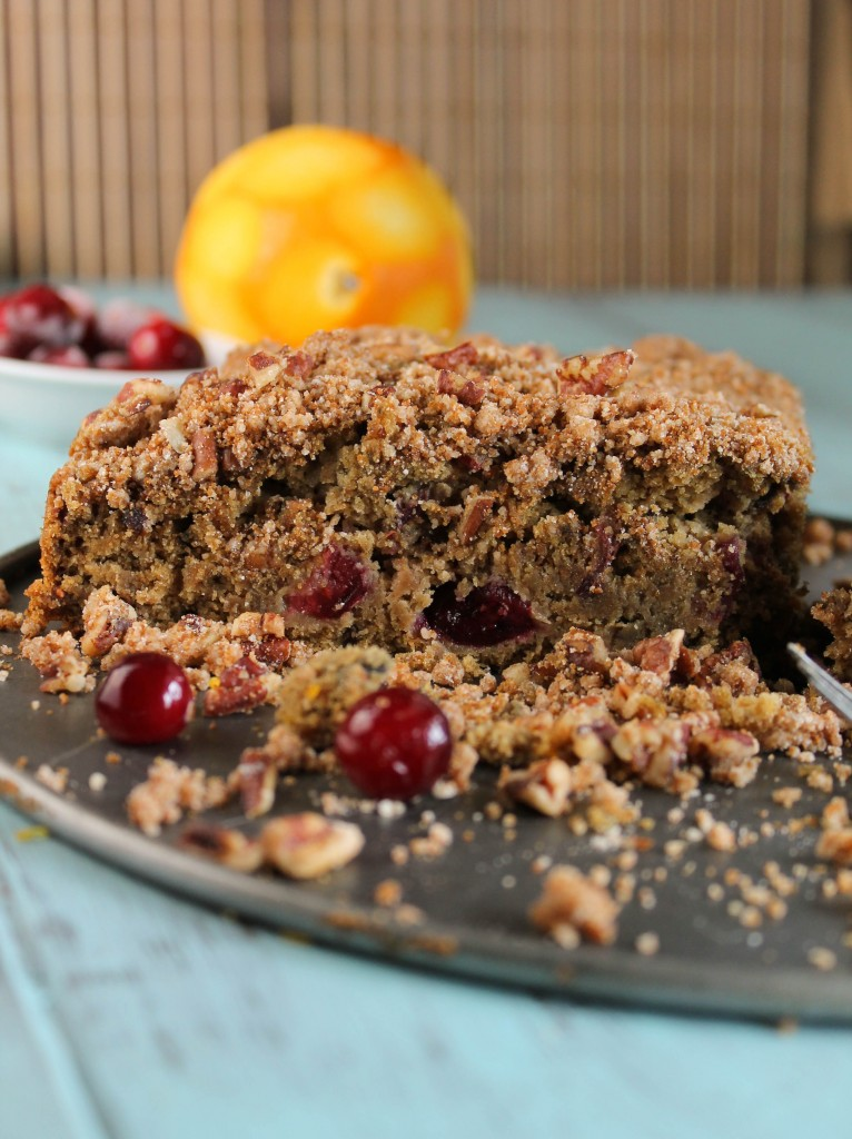 Gluten Free _ Vegan Cranberry Orange Coffee Cake