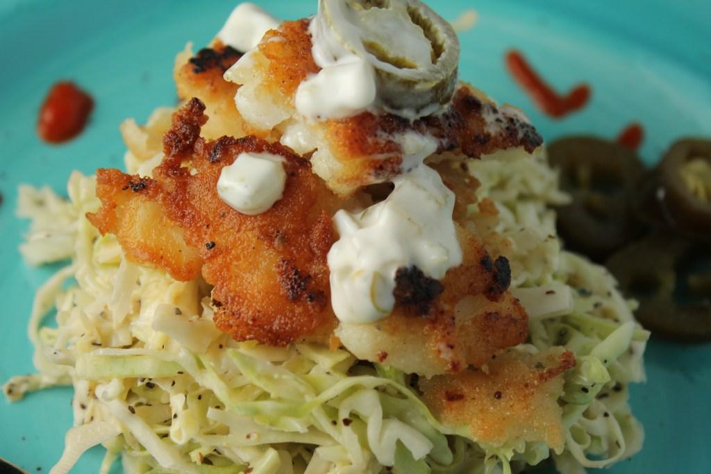 Paleo Fish Tacos w/ a Spicy Slaw
