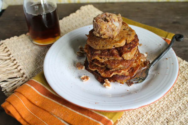 Leftover Oatmeal Pancakes w- Walnut Butter - Gluten Free, Dairy Free, Egg Free Option-7389