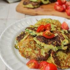 Gluten Free Zucchini Latkes w/ a Paleo Option