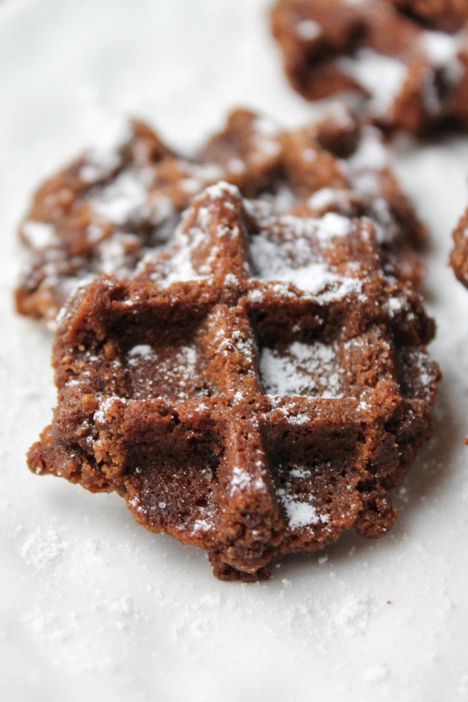 Chocolate Waffle 'Boot Track' Cookies #Paleo #LowCarb #Keto #Vegan #GlutenFree