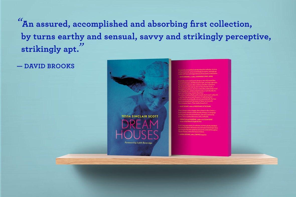 Dream Houses Poems books on shelf