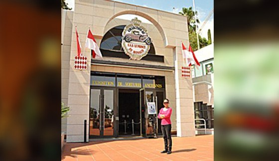 Prince of Monaco museum front with me_0