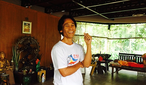 Shishir, now living a humble and simple life as an arnis instructor