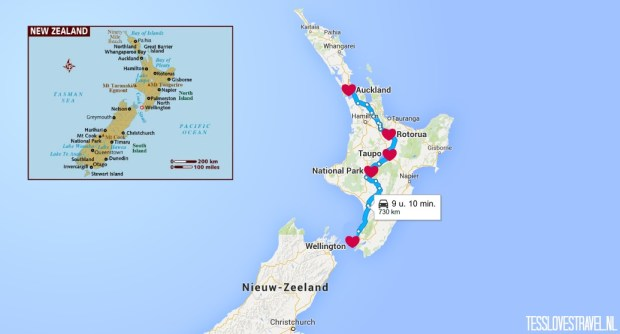 route noorder NZ 1