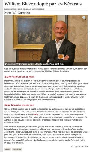 William Blake adopté par les Néracais