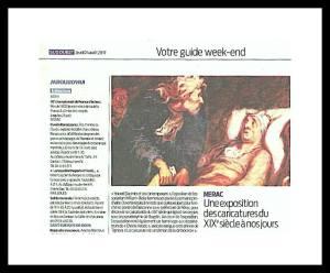 Une exposition des caricatures du XIX siècle à nos jours.