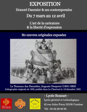 Exposition Daumier et ses contemporains à Cancon (7 mars-12 avril 2018)
