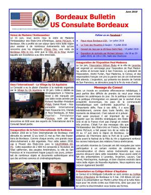 Bulletin US Consulate Bordeaux