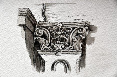 Détail architectural de maison victorienne à San Francisco (2)
