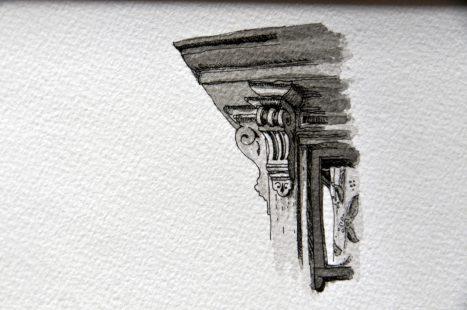 Détail architectural de maison victorienne à San Francisco (3)