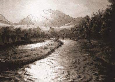 Thaîland- Dawn on the river Paï