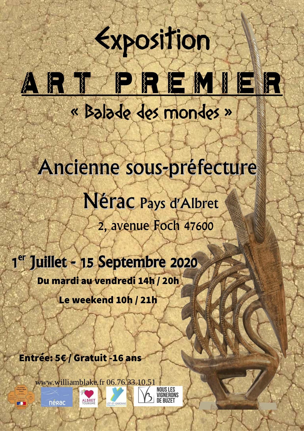 """EXPOSITION """"ART PREMIER"""" 1 JUILLET 2020-30 SEPTEMBRE 2020"""