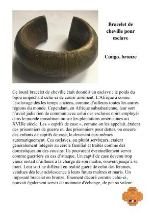 Bracelet de cheville pour esclave
