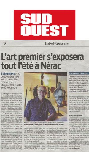 L'Art Premier exposé tout l'été à Nérac